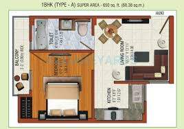 650 Square Feet Floor Plan 1 Bhk 650 Sq Ft Apartment For Sale In Omson Nature Valley At Rs