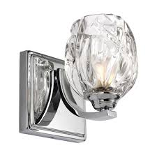 elstead lighting kalli single led bathroom wall light in polished