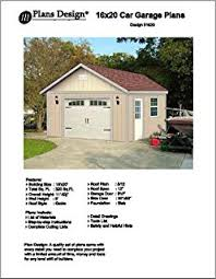 Garage Blueprints 20 U0027 X 20 U0027 Car Garage Blueprints Project Plans Design 52020