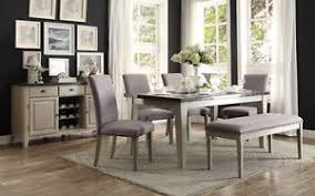 marble top dining table set grey dining table w faux bluestone marble top dining chairs bench