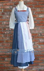 belle halloween costume kids 2017 beauty and the beast belle dress plaids village maid emma