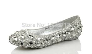 wedding shoes size 12 silver bling bling flats diamond wedding shoes