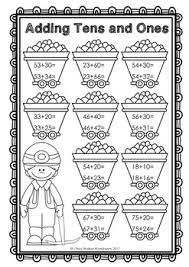 digit addition no regrouping worksheets for 2 digit adding