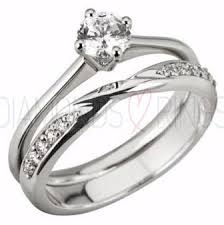 bridal ring sets uk crossover wedding ring diamond set shaped wbds025 twisted