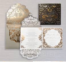 black and gold wedding invitations gold wedding invitations with glamorous touch registaz