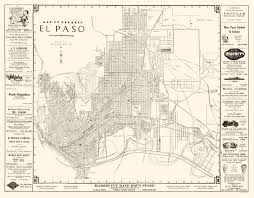 map tx city map el paso 1938