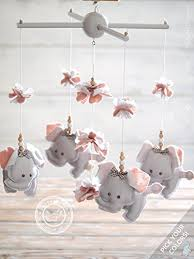 Pink And Grey Nursery Decor Grey Pink Elephant Nursery Decor Pink Grey