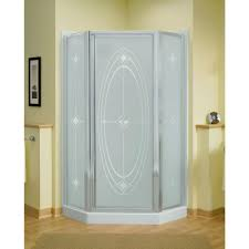 corner neo angle shower doors showers the home depot