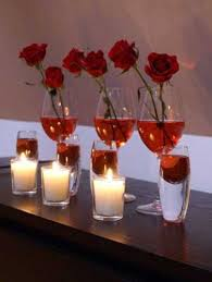 day table decorations 20 candles centerpieces for valentines day table