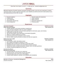 Inventory Resume Examples by Carpenter Resume Examples 10 College Resume Templates Free