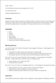 Resume Sample For Doctors by Professional Hospital Volunteer Templates To Showcase Your Talent