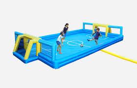 sportspower turns your backyard into a mini soccer field in under