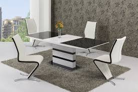 K Black White Small Or Large Extending Table Izabella Chairs - Black and white dining table with chairs