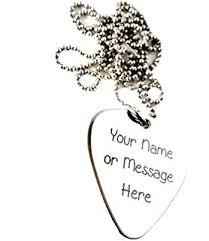 Engraved Guitar Pick Necklace Amazon Com Engraved Stainless Steel Guitar Pick Necklace Pendant