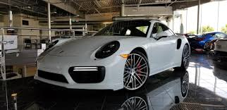 porsche carrera interior 2017 dealer inventory 2017 porsche 911 turbo white w blk u0026 bordeaux