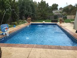Swimming Pool Backyard by Patio Designs Pool Remodeling Wichita Stamped Concrete Dirt