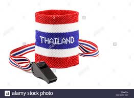 Thai Flag Whistle And Wristband In Thai Flag Pattern Symbol Of Resistance