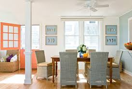 Beach Dining Chairs Shabby Chic Coastal Beach Style Hamptons - Stylish dining table with wicker chairs house