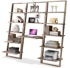 Ladder Desk With Shelves by Open Leaning Office Unit With 12 Shelves By Riverside Furniture