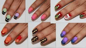 6 easy nail art for beginners diy nail design youtube