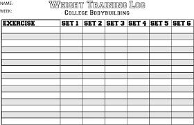 workout sheet workout sheets templateexercise chart template