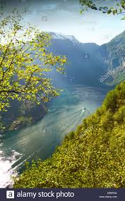 Beautiful Places On Earth by Night Fjord In The Most Beautiful Place On Earth Stock Photo