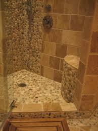 Rustic Tile Bathroom - polished cobblestone pebble tile natural showers pebble tiles