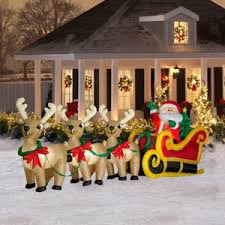 Christmas Reindeer Garden Decorations by Amazon Com Christmas Decoration Lawn Yard Inflatable Santa