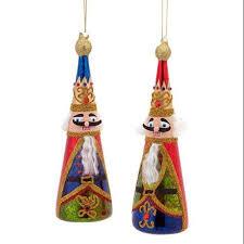 wooden nutcracker ornament set of 4