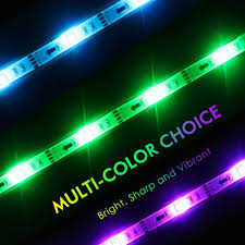 pc led light strips tv backlight led lights strip with usb power 90cm rgb multi color