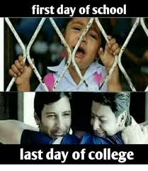 First Day Of College Meme - first day of school last day of college college meme on me me