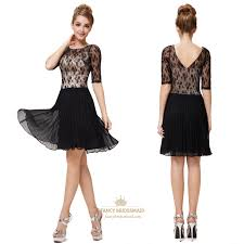 black and white cocktail dresses with sleeves for juniors black
