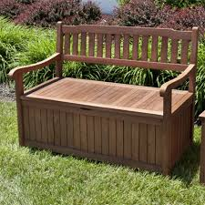 Wood Outdoor Storage Bench Keymar Teak Outdoor Storage Bench 4 Ft Or 5 Ft Outdoor