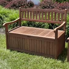Patio Furniture Storage Bench Keymar Teak Outdoor Storage Bench 4 Ft Or 5 Ft Outdoor