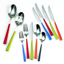 amazon com fiesta merengue 50 piece flatware set with steak