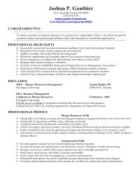 Sample Resumes For Hr Professionals by Gauthier Joshua 2011 Hr Resume 1