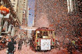 Giants Parade Route Map by Giants Ticker Tape Parade On Halloween Nbc Bay Area