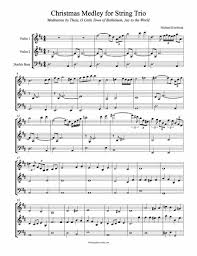 free christmas medley sheet music for two violins and double bass