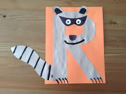 r is for raccoon craft preschool craft letter of the week