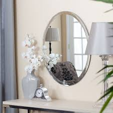Beveled Bathroom Mirrors Uttermost Frameless Oval Beveled Vanity Mirror Hayneedle