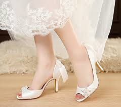 wedding shoes kl luxveer satin wedding shoes with bowknow on back and rhinestones