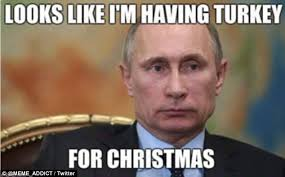 vladimir putin and turkey memes appear on thanksgiving