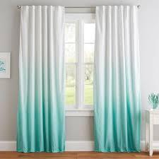 Turquoise Blackout Curtains Ombre Blackout Drape Pbteen