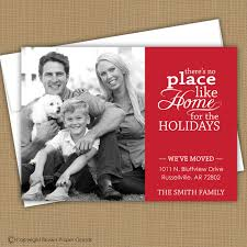 christmas card moving announcement we u0027ve moved there u0027s no place