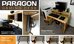 Console Gaming Desk The Paragon Gaming Desk Is A Gamer S Come True