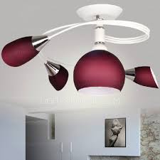 Flush Ceiling Lights For Bedroom Semi Flush Ceiling Lights 4 Light Purple Shade For Bedroom