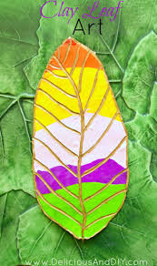 clay leaf decoration delicious and diy