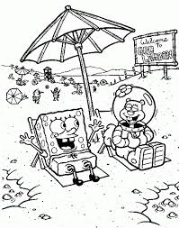 coloring pages for kids spongebob and squidward cartoon coloring