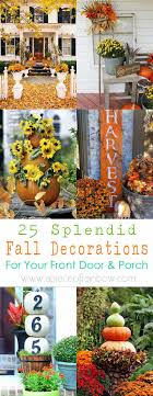autumn decorations 25 splendid front door diy fall decorations a of rainbow