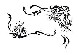flower ornament wall decal wonderful floral decoration
